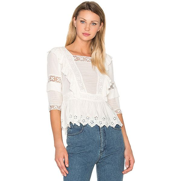Ulla Johnson Gilda Embroidered Cotton-Linen Blouse - Tops - 505380228