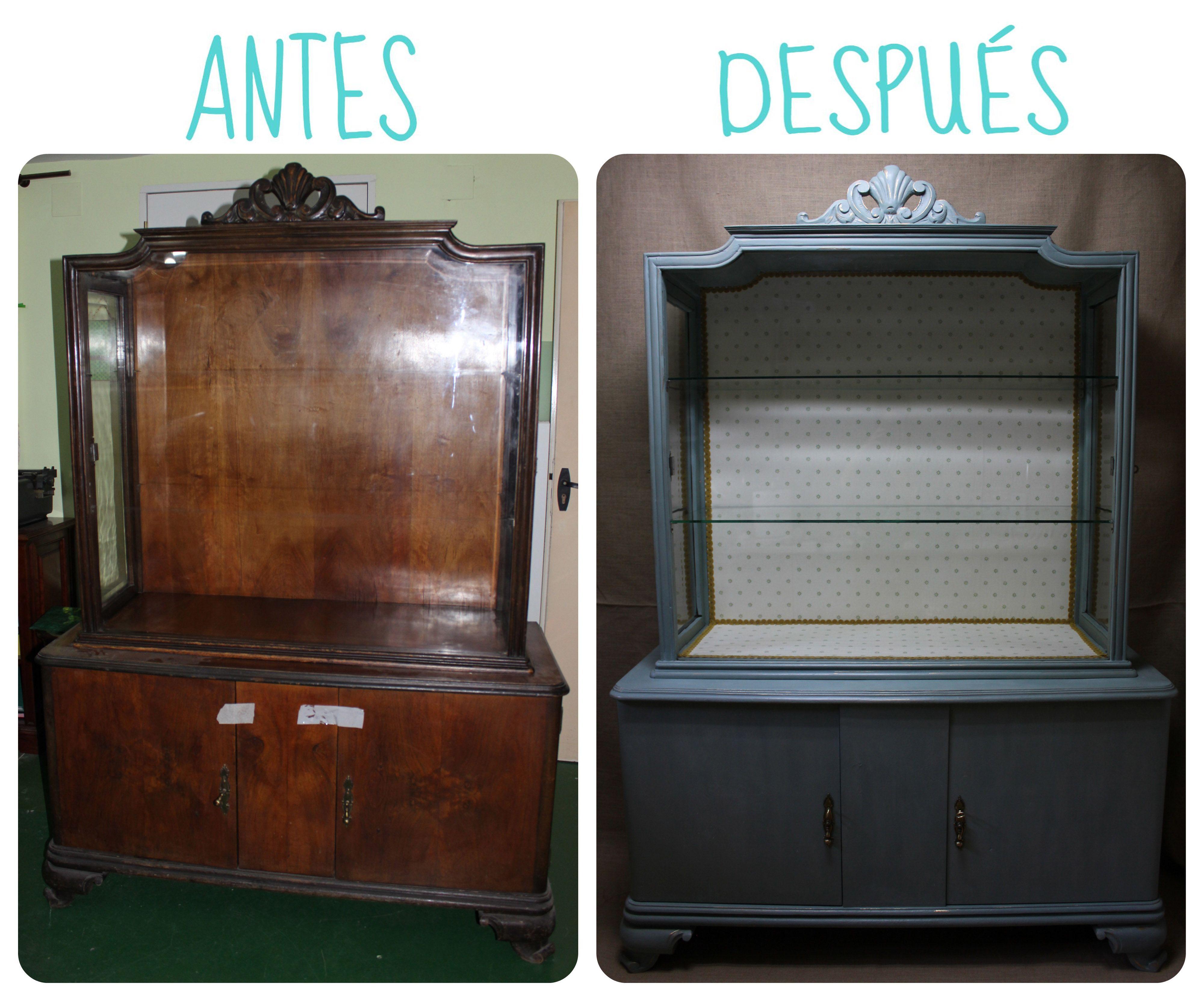Antes Y Despu S De Esta Vitrina Restaurada Por El Rinc N De Mi  # Muebles Reformados Antes Y Despues