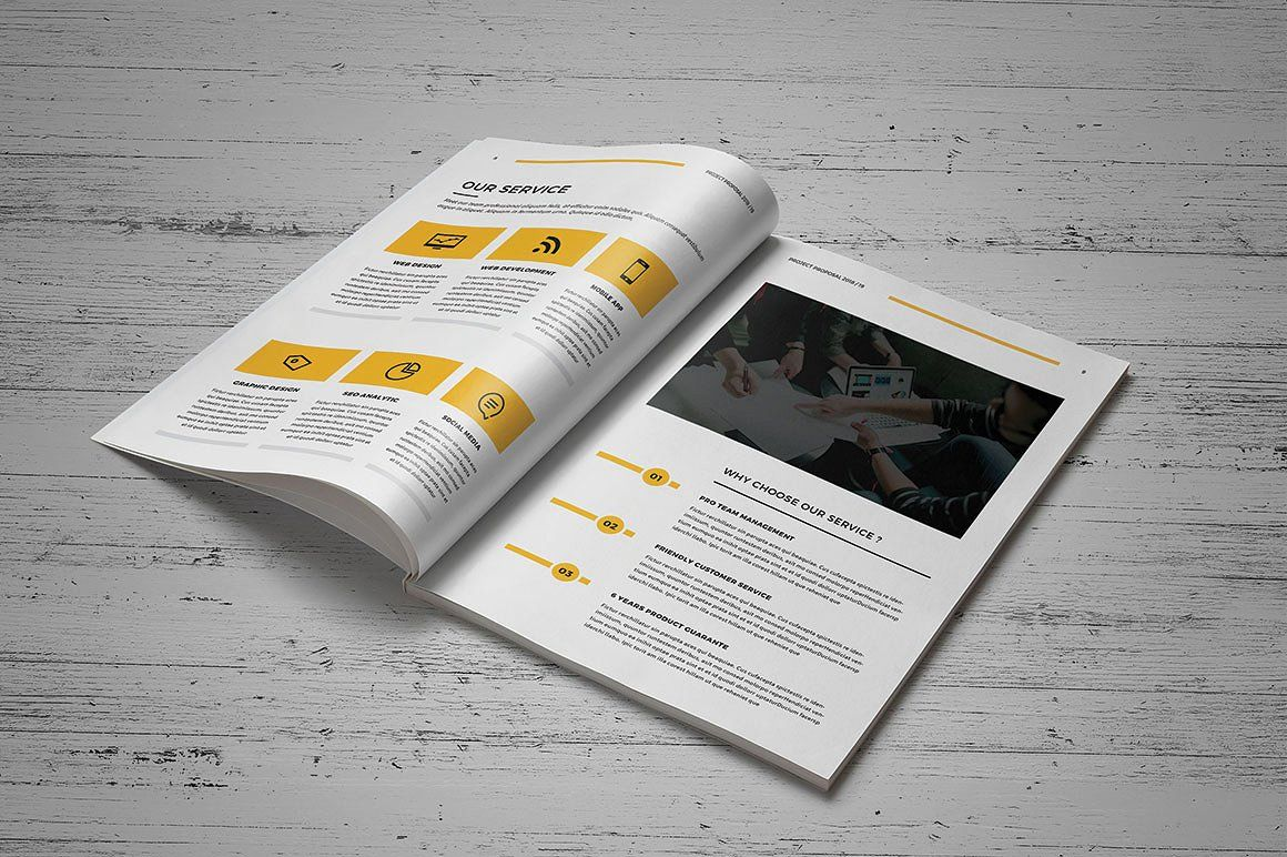 Proposal Bundle Portfolio Template Design Brochure Examples Pamphlet Template