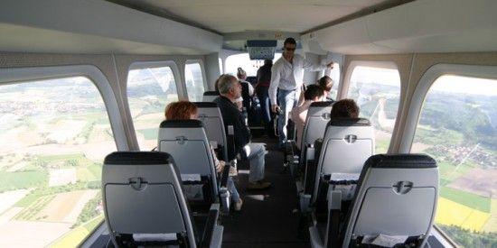 Passenger cabin of Zeppelin NT (photo: ZLT Zeppelin Luftschifftechnik GmbH)