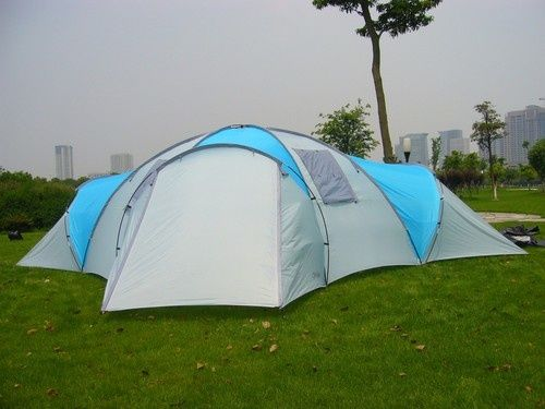 huge 8 12 person rockport 4 room large family camping tent new