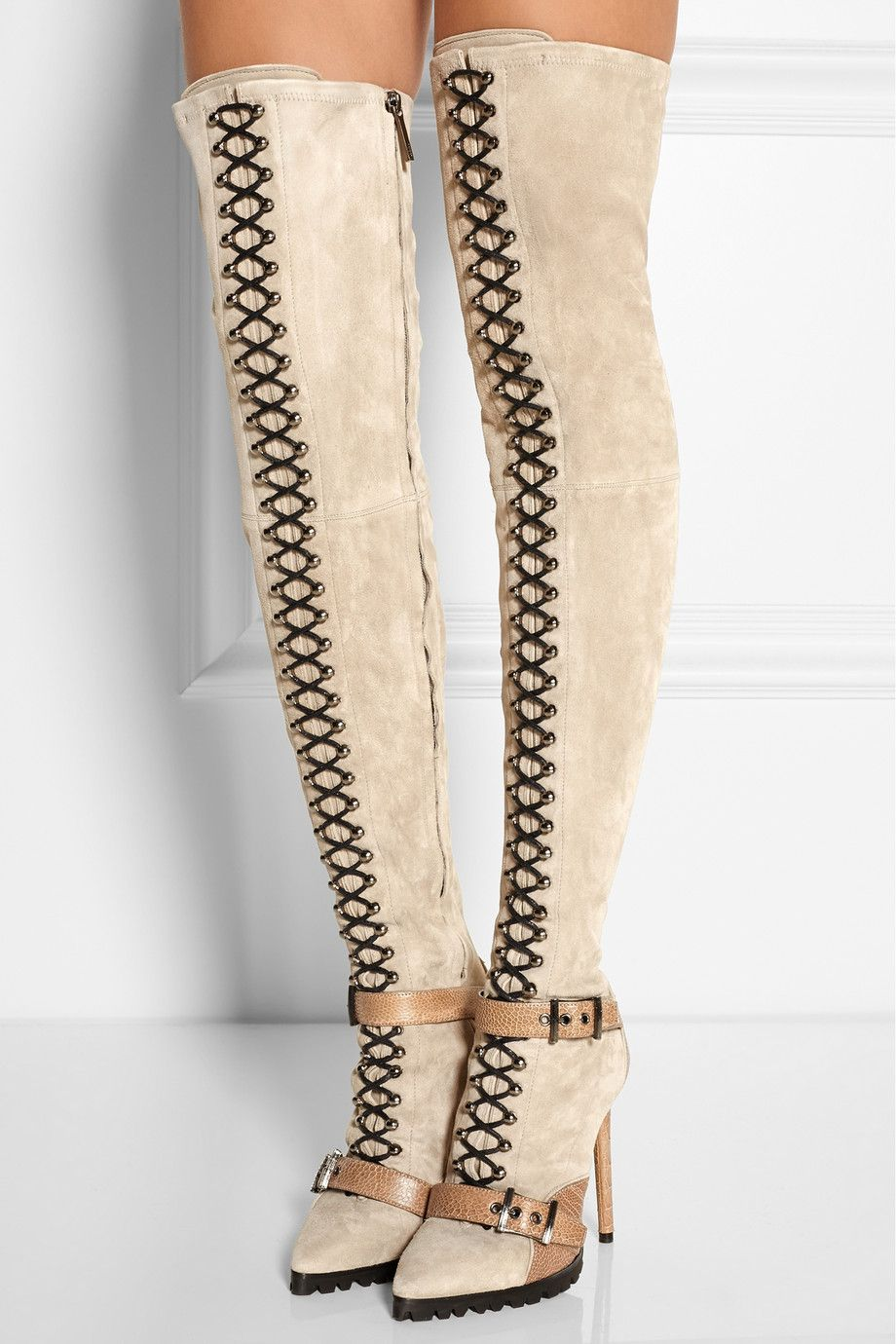 Emilio Pucci Suede Knee-High Boots cheap real eastbay release dates for sale clearance new arrival pre order cheap price 6WoWD1SNTO