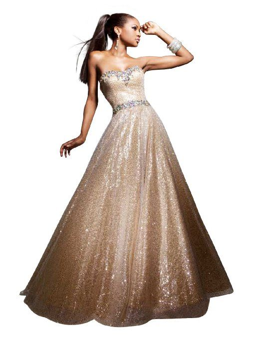 prom dresses | Gold Ball Gown by Tony Bowls - best prom dresses ...