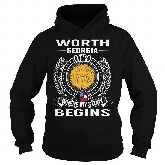 Worth, Georgia It's Where My Story Begins T Shirts, Hoodies. Get it now ==► https://www.sunfrog.com/States/Worth-Georgia-Its-Where-My-Story-Begins-Black-Hoodie.html?41382 $39.99