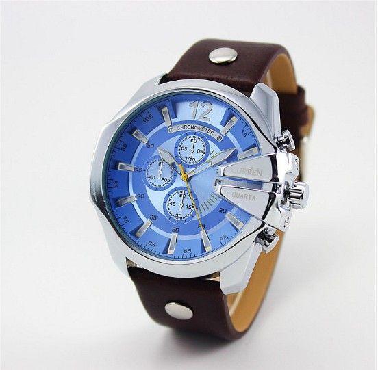 Pánské voděodolné hodinky CURREN modré – pánské hodinky Na tento produkt se  vztahuje nejen zajímavá sleva d1e6bd485f6