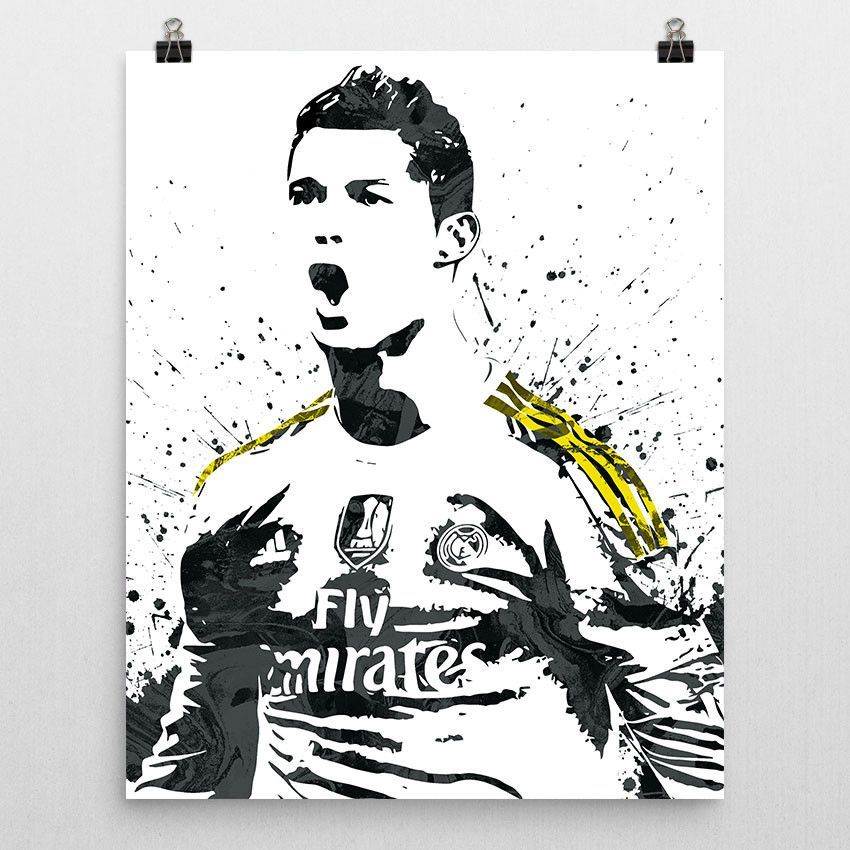 Cristiano Ronaldo Real Madrid Poster Ronaldo Real Madrid Cristiano Ronaldo Real Madrid Soccer