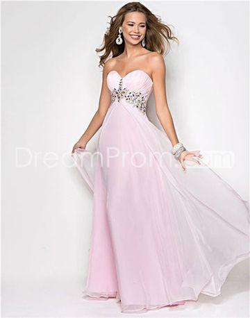4eabec27f26 2014 Style A-line Sweetheart Beading Sleeveless Floor-length Chiffon Prom  Dresses   Evening Dresses