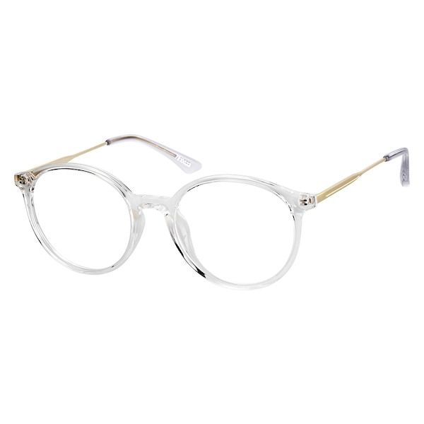 1fa7eec2fa2 Zenni Womens Round Prescription Eyeglasses Clear Mixed Materials 7810023