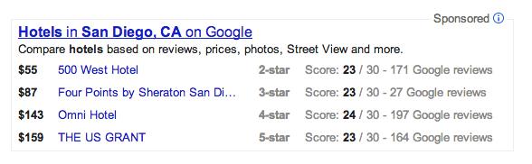 Google's Hotel Finder