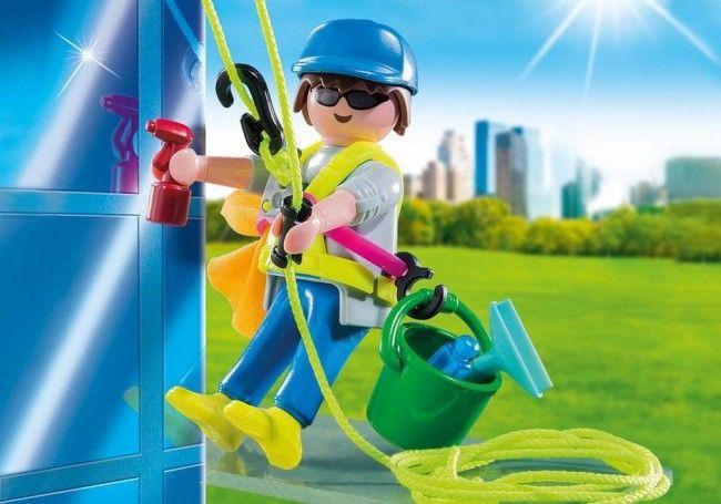 Playmobil : Laveur de vitres - Castello   Jeux et Jouets