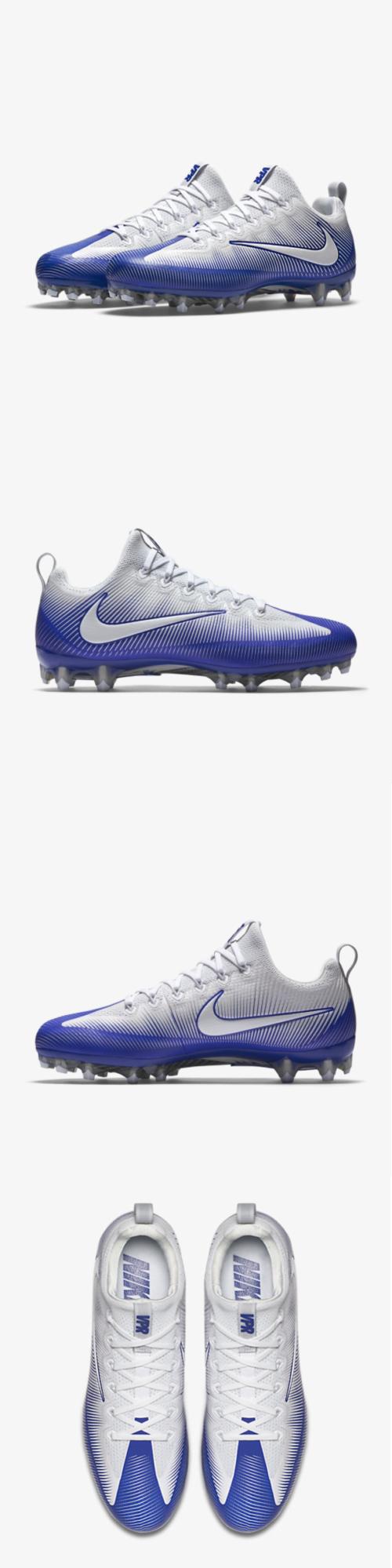 big sale 93891 9da36 Men 159116  Nike Vapor Untouchable Pro Pf Football Cleats White Blue  839924-409 Sz