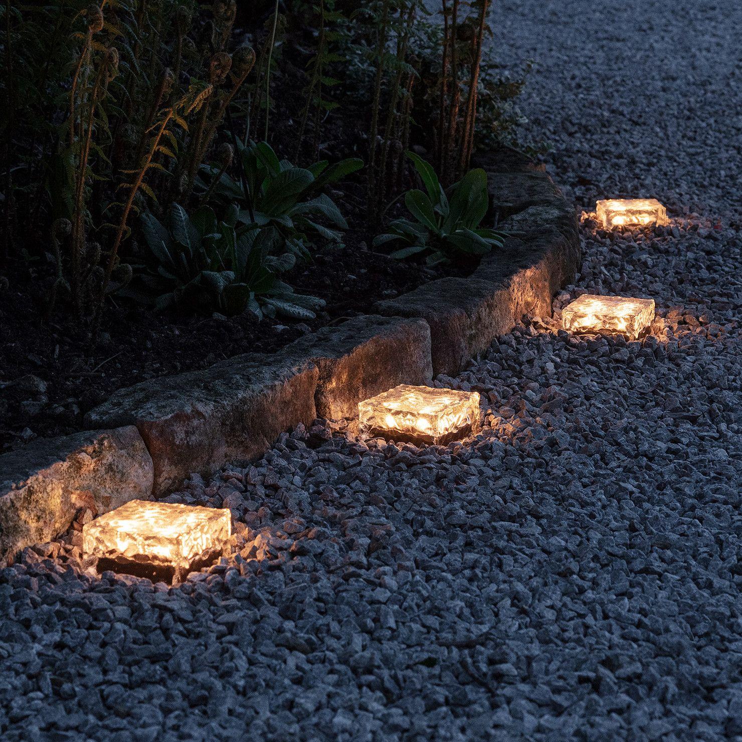 Large Warm White Solar Garden Path Light Garden path