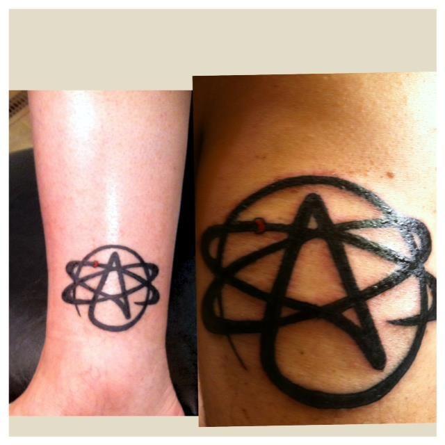 The Atheist Atom A For Atheist Pinterest Science Tattoos