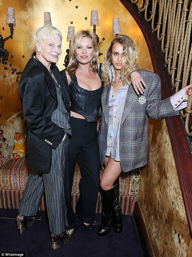 Fashionable friends: Vivienne Westwood was celebrating the launch of her new unisex tailor...
