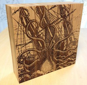 The Kraken Wall Art Laser Cut Laser Engraved