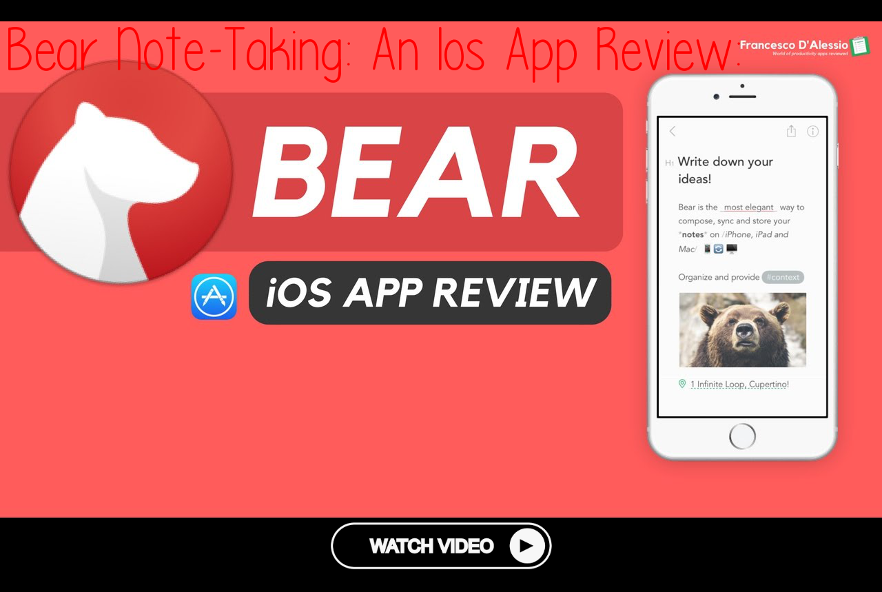 Bear NoteTaking An Ios App Review productivity