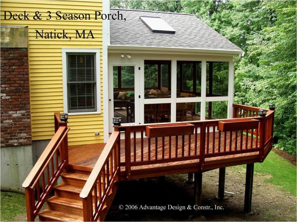 three season porch design ideas | gable roof 3 season porch & deck