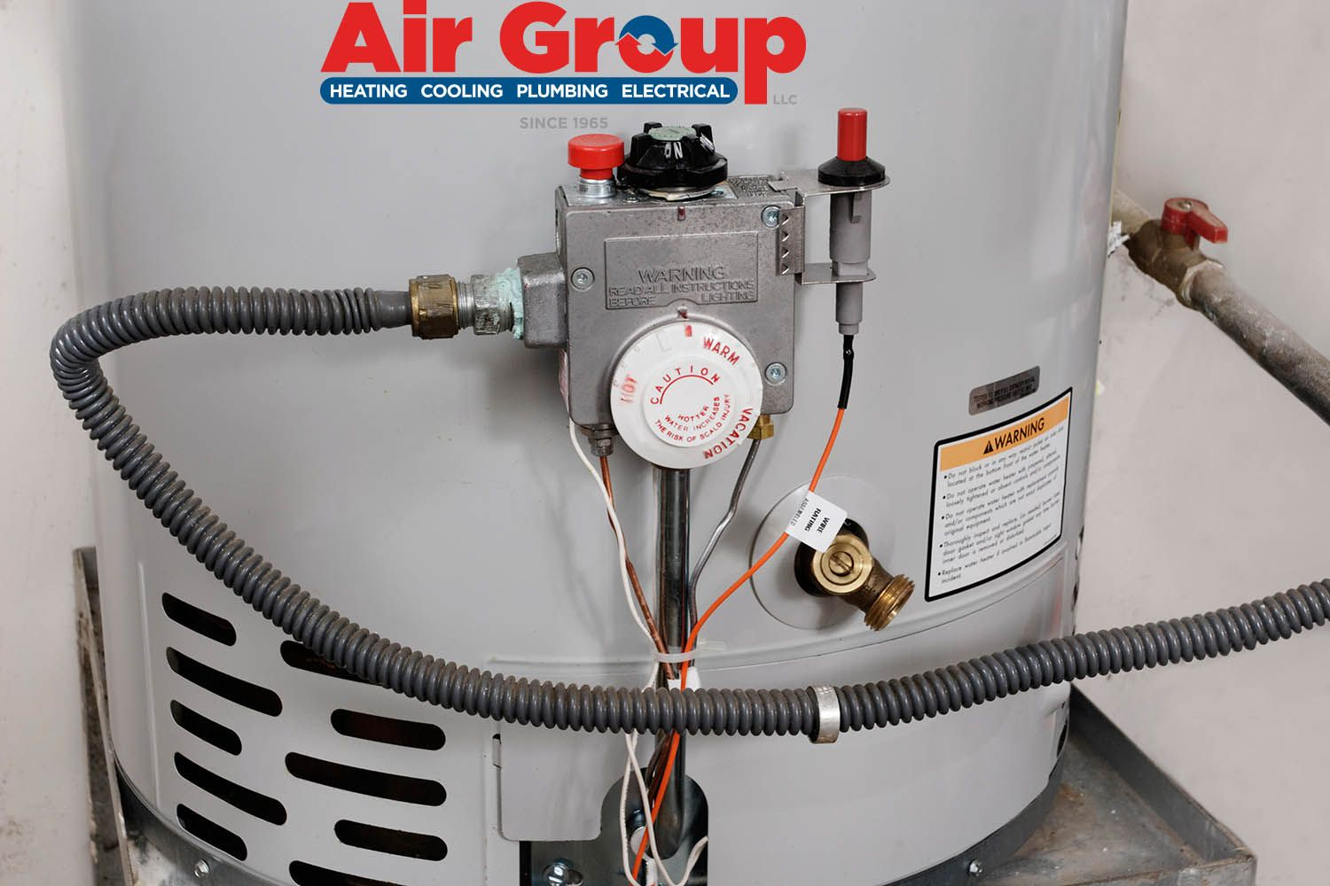 Check your water heater's thermostat. The thermostat, or