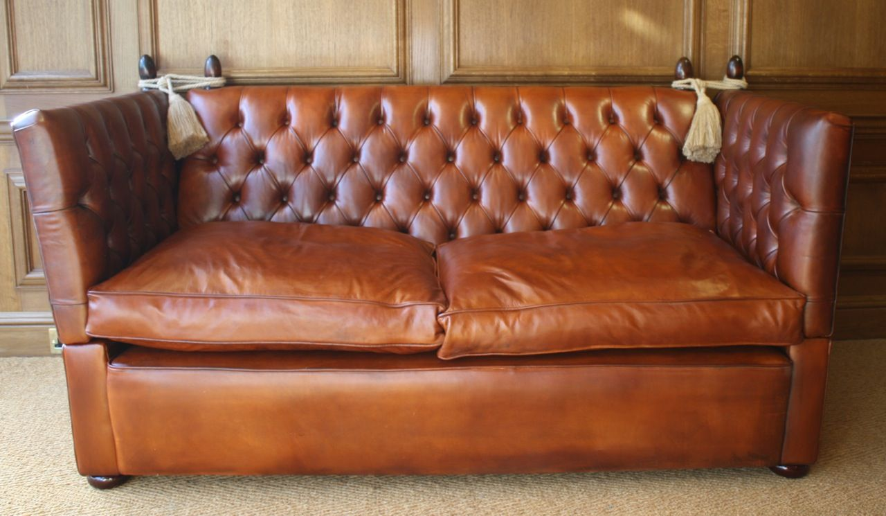 Swell Buttoned Tufted Leather Knole Sofa Hand Made By Leather Inzonedesignstudio Interior Chair Design Inzonedesignstudiocom