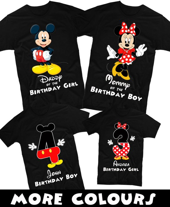 a94f99cd18d2 Mickey Mouse Shirt Mickey Mouse and Minnie Mouse Birthday Shirt Family  Birthday Shirts Disney Family Birthday Shirts Custom Shirt