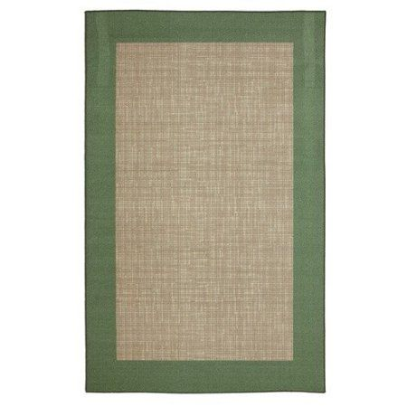 Mainstays Ms 60x96 Lettuce Green Border Patio Rug