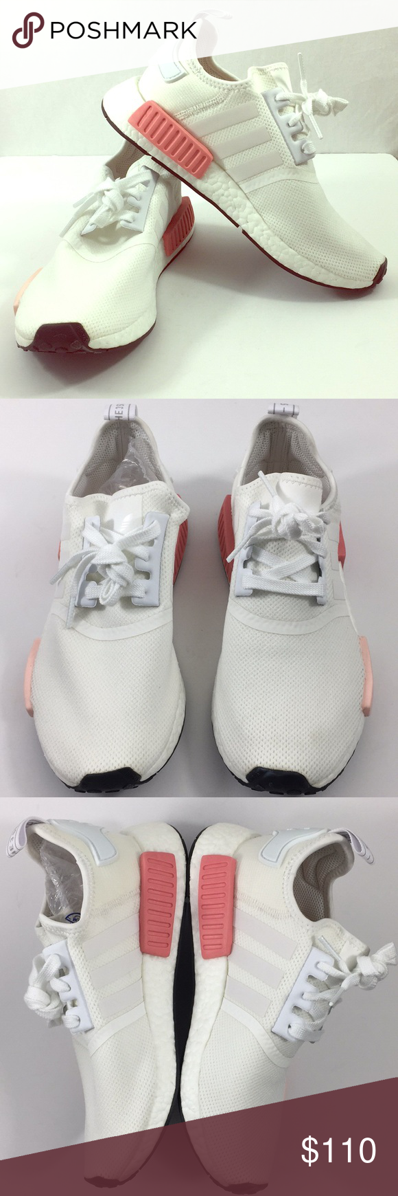 5e8c0c88a Adidas NMD R1 White Rose BY9952 Vapour Pink Adidas NMD R1 Women 7.5 White  Rose BY9952