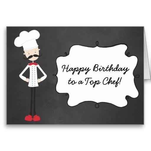 Retro Custom Chef Happy Birthday Greeting Card Zazzle Com