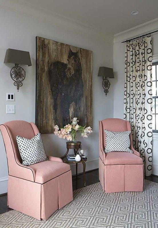 pink chairs w/black piping by jupiterfly