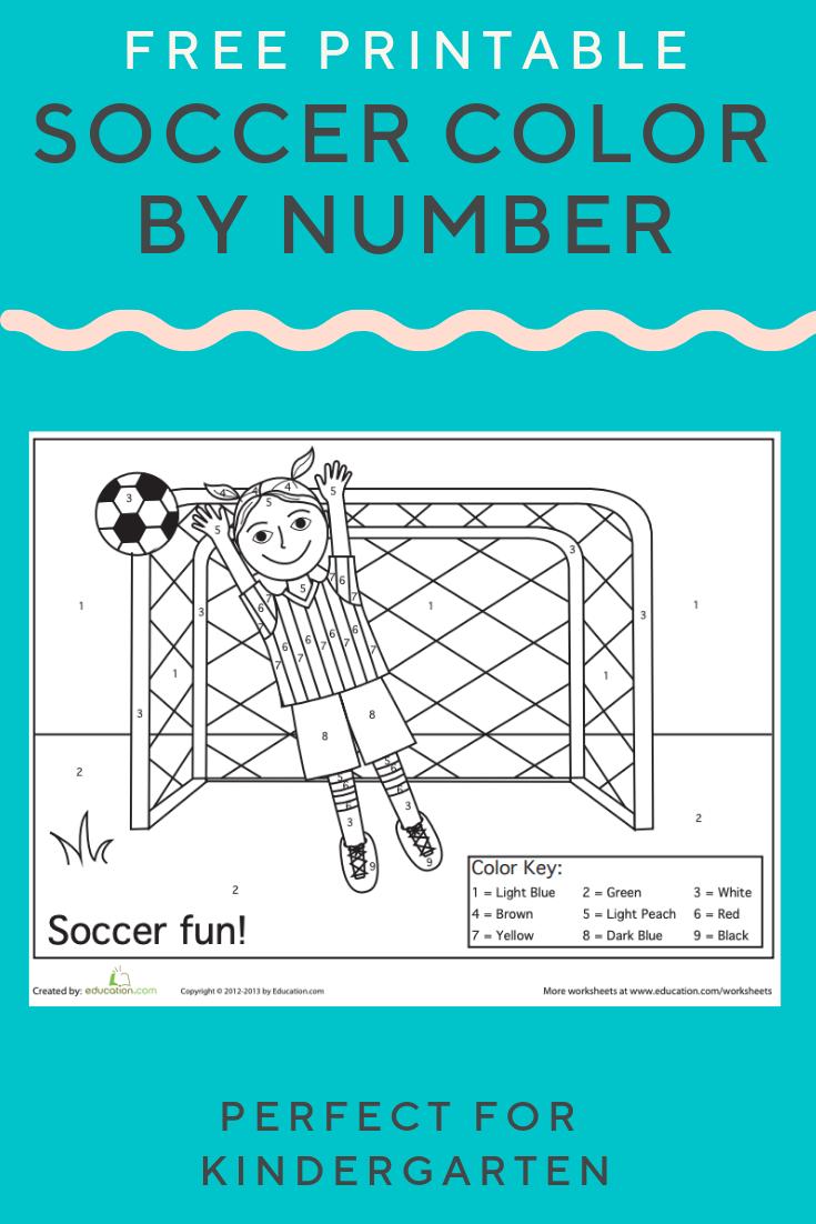 Soccer Color By Number Worksheet Education Com Preschool Number Recognition Worksheets Elementary Activities Number Recognition Activities Preschool [ 1102 x 735 Pixel ]