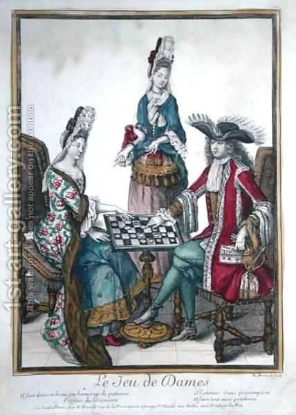 Le Jeu de Dames (Game of Draughts), fourth quarter 17 century by Nicolas Arnoult (1650-1722)