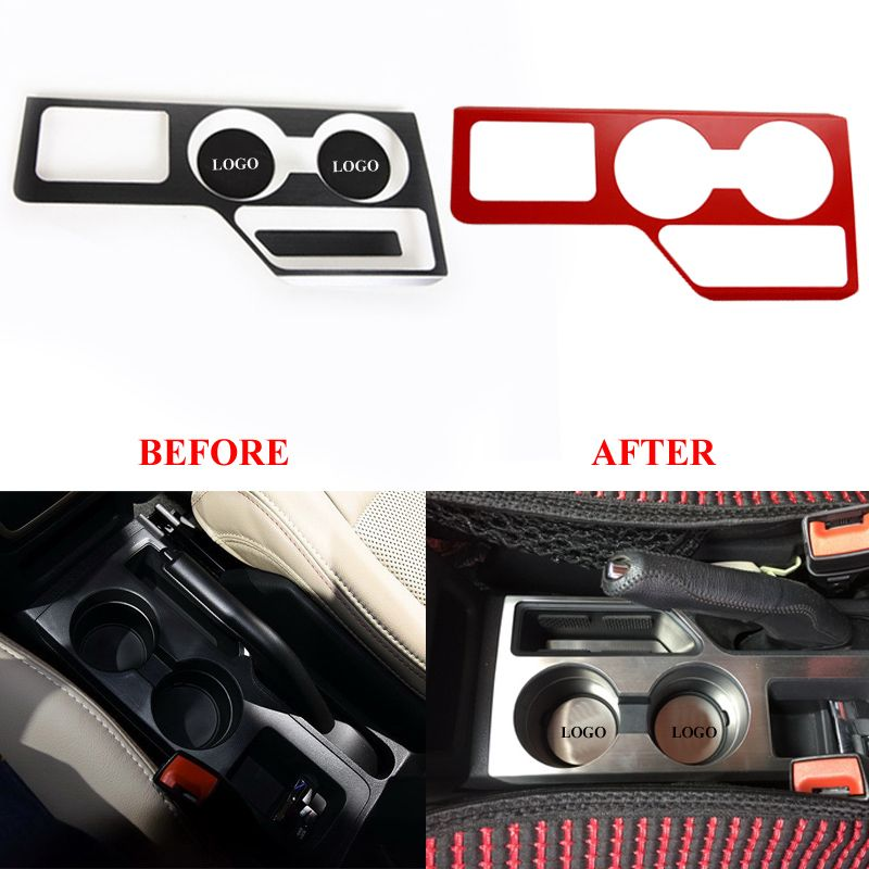 Inner Console Water Cup Holder Storage Box Cover Trim For Jeep Compass 2011-2016