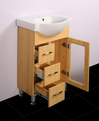 Eurofit-24-Bamboo-Narrow-Bathroom-Sink-Cabinet-Vanity & Eurofit-24-Bamboo-Narrow-Bathroom-Sink-Cabinet-Vanity | Cabinets ...
