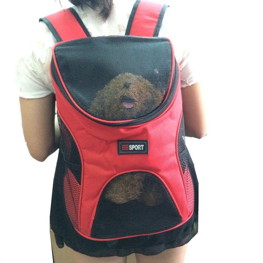 Pet Dog Cat Double Shoulder Backpacks Sport Travel Outdoor Backback Carrier Bag For Small Animal Puppy I Dog Backpack Carrier Pet Backpack Carrier Dog Backpack
