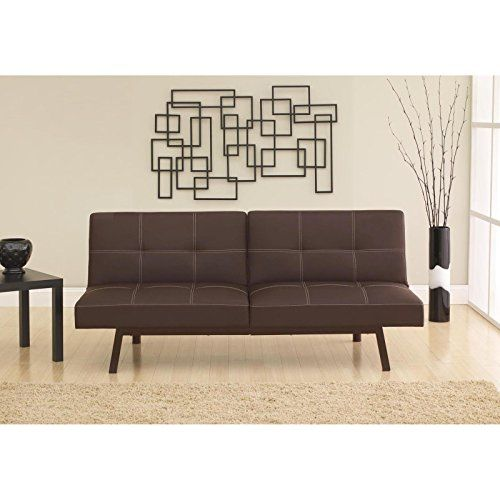 Split Back Futon Sofa Bed Sleeper Convertible Couch Leather Faux