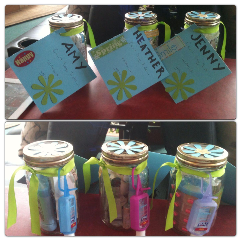 Bridesmaid Survival Kit Deodorant Aspirin Travel Size Booze