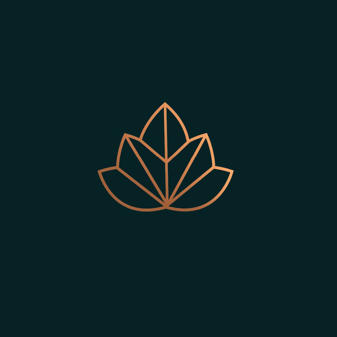 Clean Modern Simple Elegant Timeless Logo Design Using Lotus And A Maple Leaf As Inspiration For Yoga Studio Health Wellness Groups