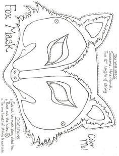 Maskeler Masky t Wolf mask Printables and Crafts for kids
