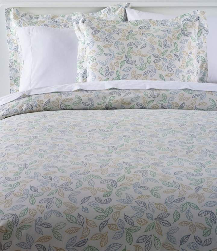 L L Bean L L Bean Tossed Leaves Percale Comforter Cover
