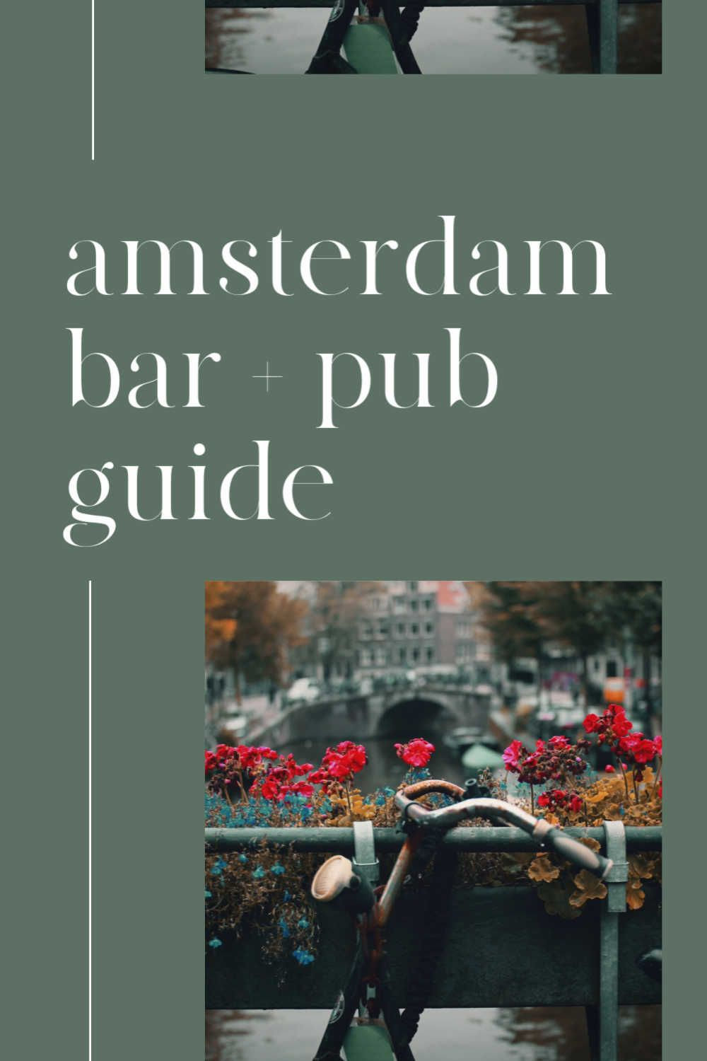 4 Unique Spots to Grab a Drink in Amsterdam in 2020 | Best bars in amsterdam,  Amsterdam bar, Amsterdam city centre