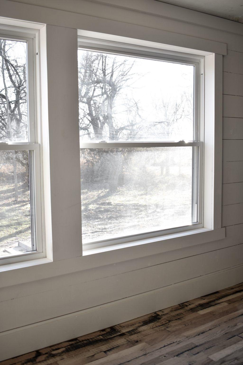 Simple Farmhouse Style Window Trim Farmhouse style