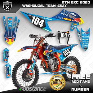 Ktm Exc Exc F Xc W Xcf W 125 150 250 300 350 500 Graphics Kit Stickers 2020 Oem Motos Enduro Motos