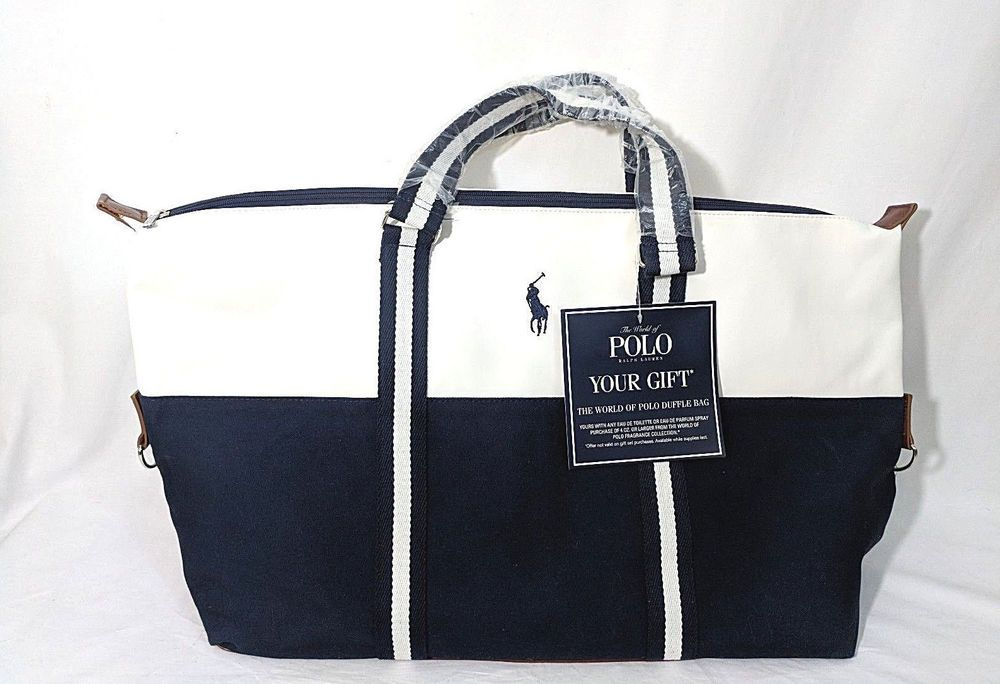 4b1eef89906d Ralph Lauren The World Of Polo Duffle Bag Weekender Tote Bag Canvas Gift  Promo  RalphLauren  DuffleGymBag