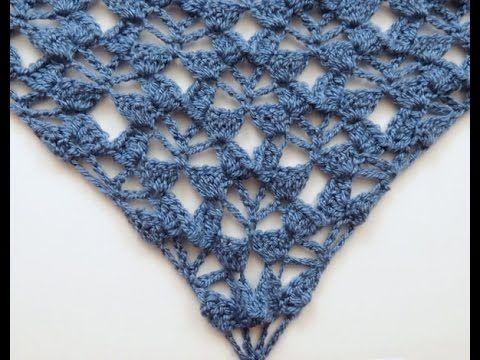 Crochet: Punto Fantasía # 24 en V - YouTube | Puntos en V para ...