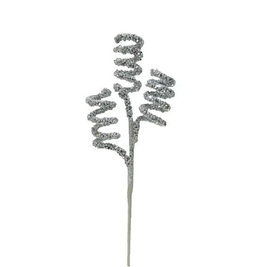 Silver Glitter Swirls Pick By Ashland Michaels Silver Glitter Holiday Charms Swirls