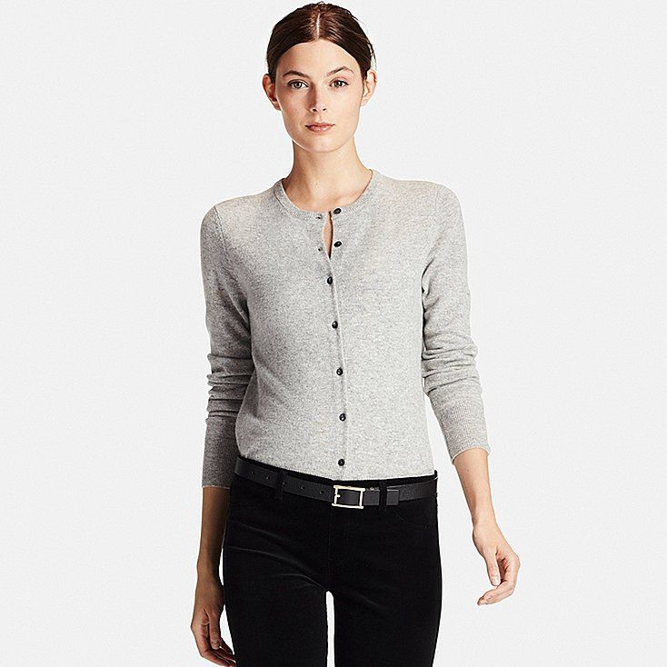 Women Cashmere Crew Neck Cardigan | Uniqlo and Cashmere