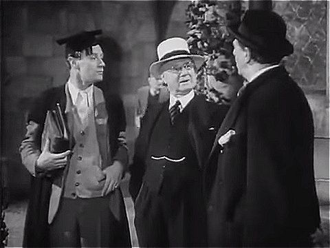 """Leslie Howard, Aubrey Mallalieu, Allan Jeayes   """"Pimpernel"""" Smith (1941)"""