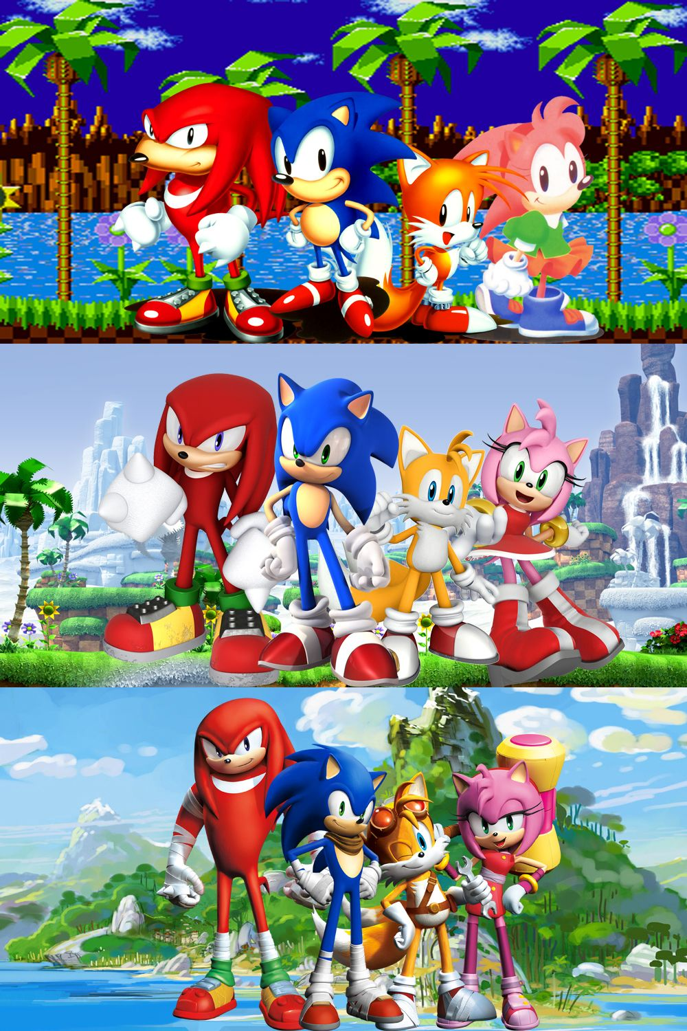 Sega Knuckles Sonic Tails Amy