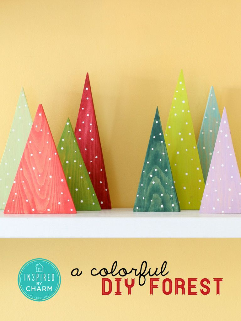 A Colorful DIY Forest -- such a cute idea and endless options!