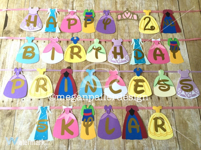 Rapunzel Birthday Banner with Rhinestone Details