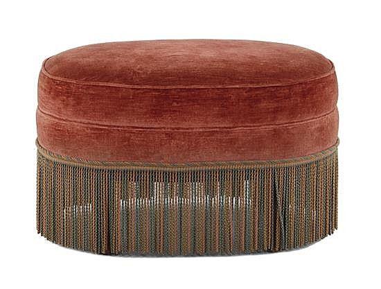 Oval upholstered ottoman | furniture | Pinterest